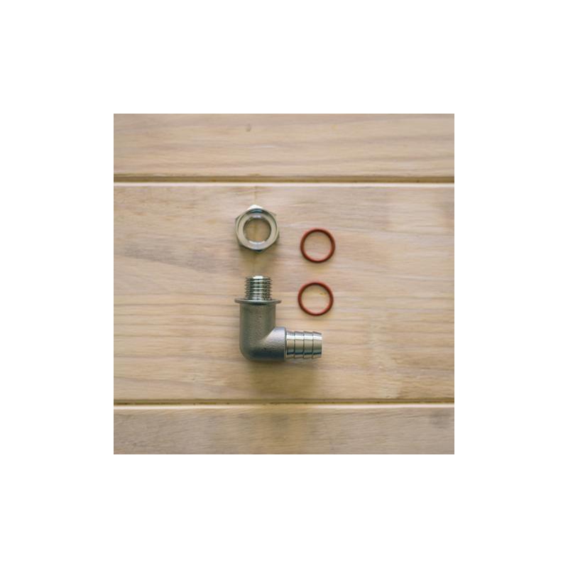 Conector doble para tapadera de ollas y manguera de 1/2
