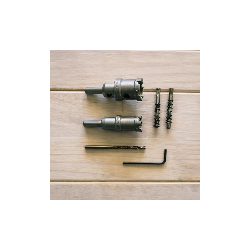 Hole saw kit for mash tun or kettle re-circ retrofit