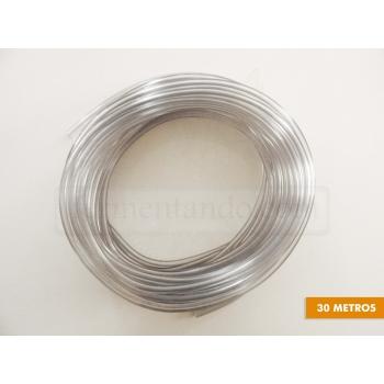 Manguera PVC 3/16 x 7/16 - Transparente - (Rollo de 30 mts)