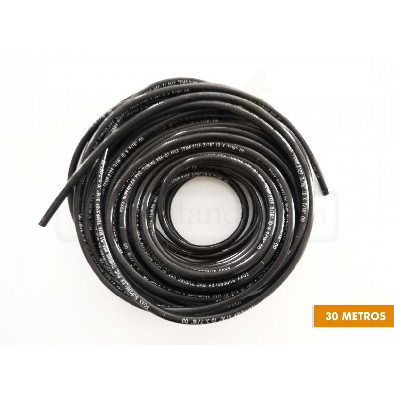 Manguera PVC 3/16 x 7/16 - Negra - (Rollo de 30 mts)