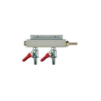 Distribuidor de Aire/CO2 - 2 Valvulas Check 3/8