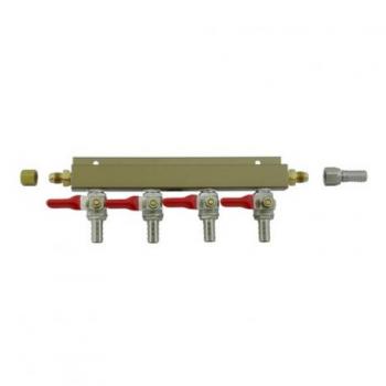 Distribuidor de Aire/CO2 - 4 Valvulas Check 3/8
