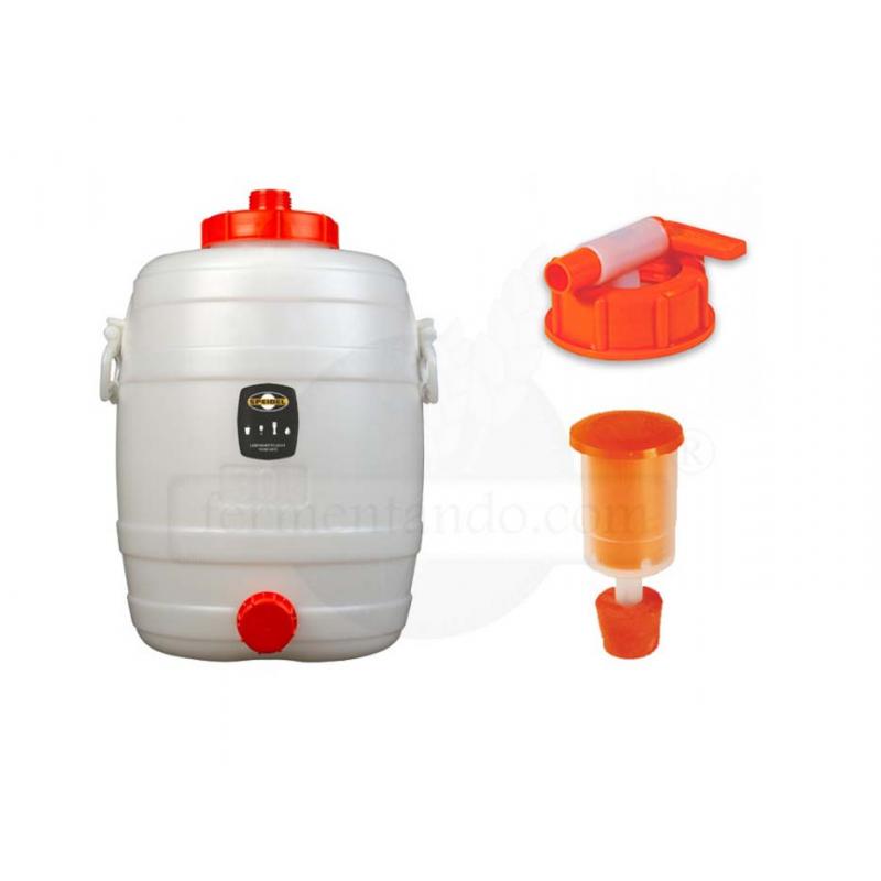 Kit de Fermentador de Plástico 30 litros