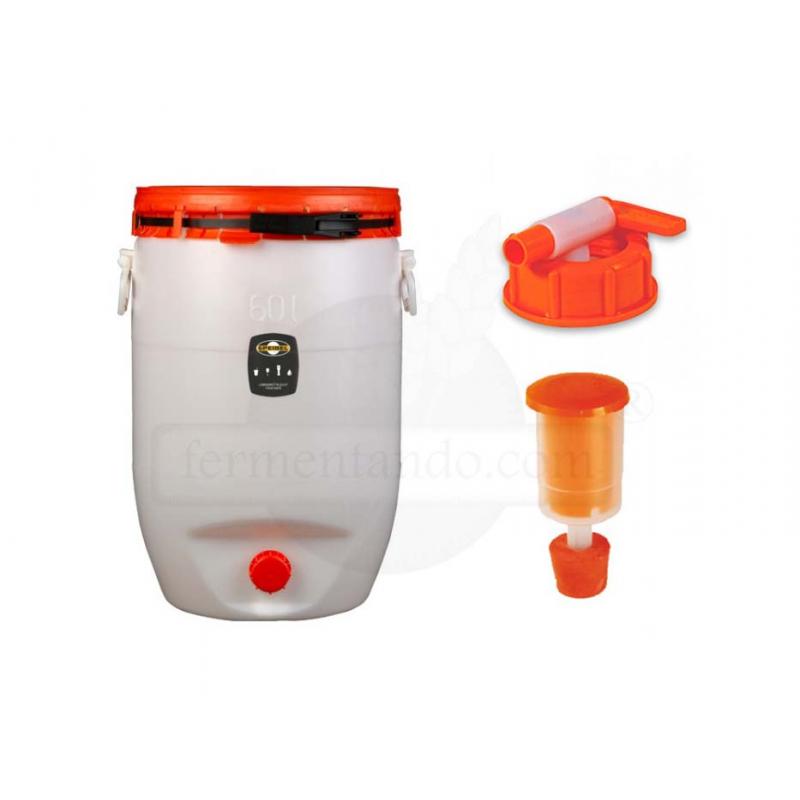Kit de Fermentador de Plástico 60 litros