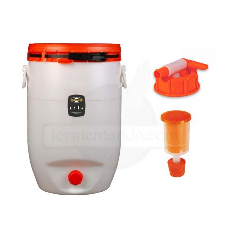 Kit de Fermentador de Plástico 120 litros