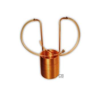 Wort Chiller de Cobre Premium 1/2 x 50 -  9 D - Conectores de Vinyl