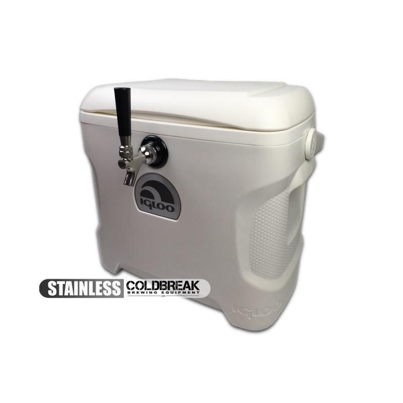 Coldbreak Jockey Box 1 tap marine pass through 30 quart cooler 50-foot coil