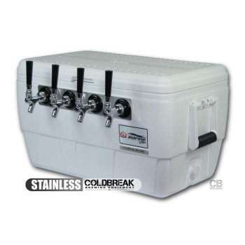 Coldbreak Jockey Box 4 tap marine pass through 48 quart cooler 50-foot coils