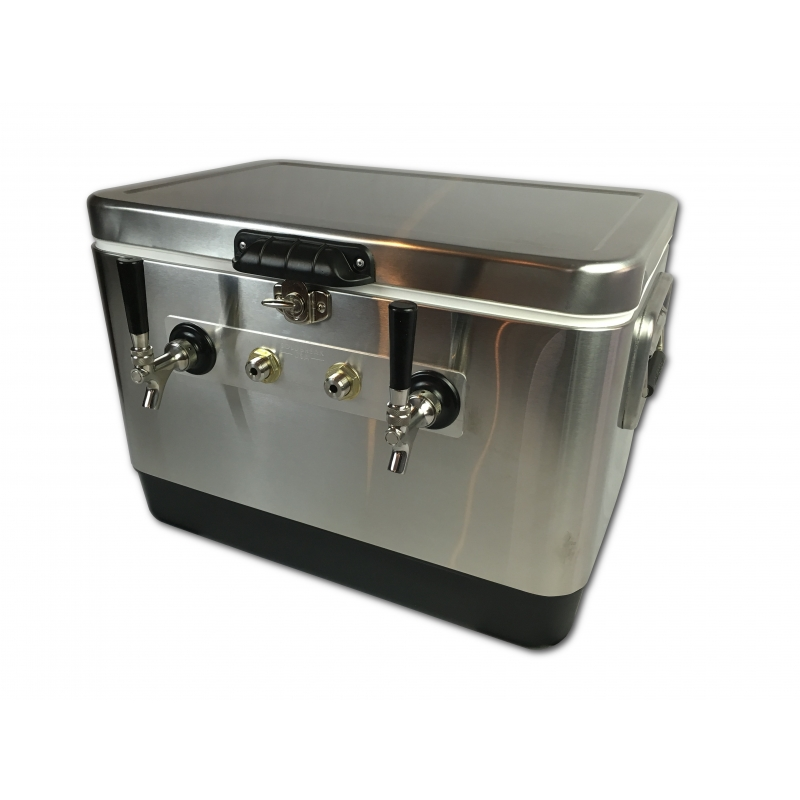 Coldbreak Jockey Box 2 tap stainless bartender edition 54 quart cooler 50-foot coils