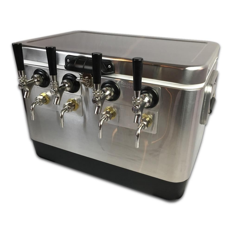 Coldbreak Jockey Box 4 tap stainless bartender edition 54 quart cooler 50-foot coils
