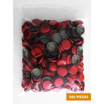 Corcholatas Lisas Rojas (Paquete 500 pz)
