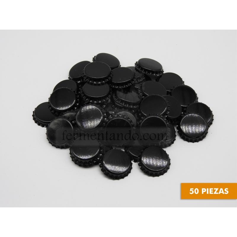 Corcholatas Lisas Negras (Paquete 50 pz)