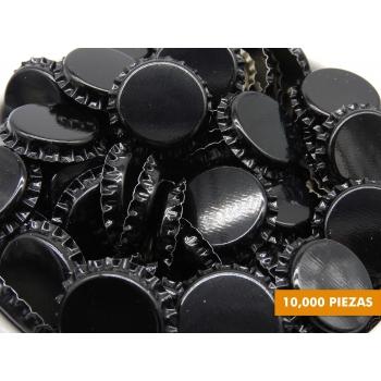 Corcholatas Lisas Negras (Caja de 10,000)