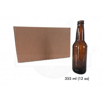 Botellas Ambar 12 oz (Caja 24)