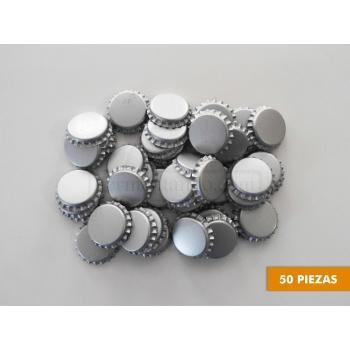 Corcholatas Plateadas (Absorbentes de Oxigeno) (50 pzas)