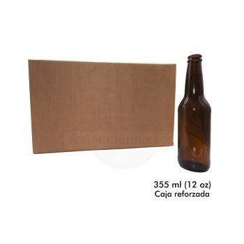 Botellas Ambar 12 oz (Caja Reforzada 24)