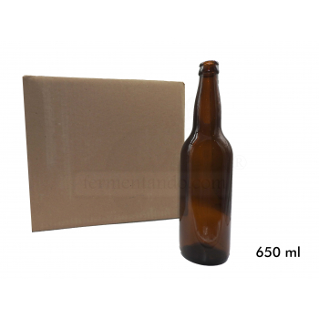 Botellas Ambar 22 oz (650 ml) (Caja 12)