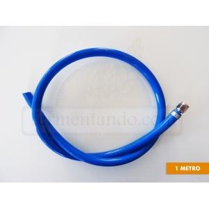 Manguera Azul de 5/16 para Gas CO2 con conector