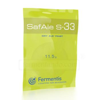 Levadura SafAle (Safbrew) S-33 - Fermentis (11.5 g)