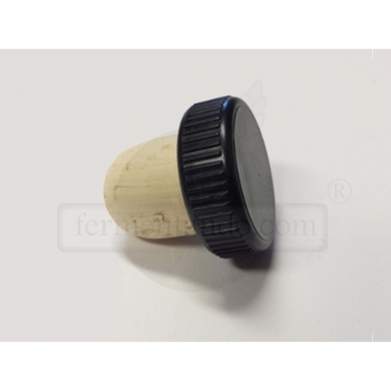 Tapon de corcho Reutilizable tipo T - 19.2 mm D (Paq. 10 pzas)