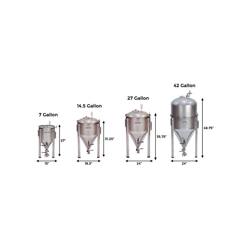 Fermentador F3- 42 Gal (Tri-clamp)