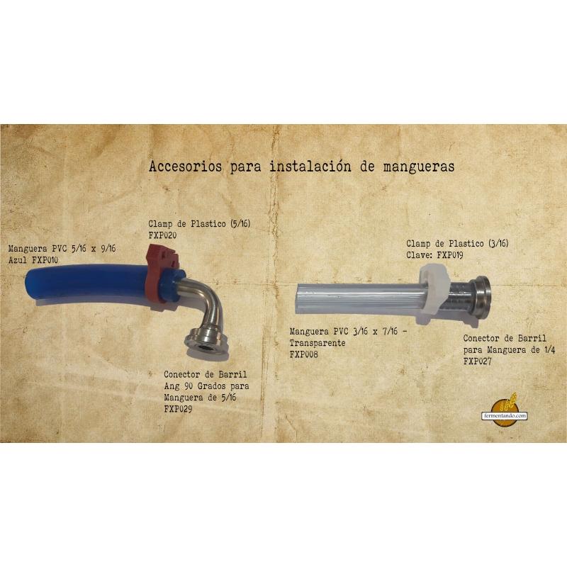 Manguera PVC 3/16 x 7/16 - Transparente
