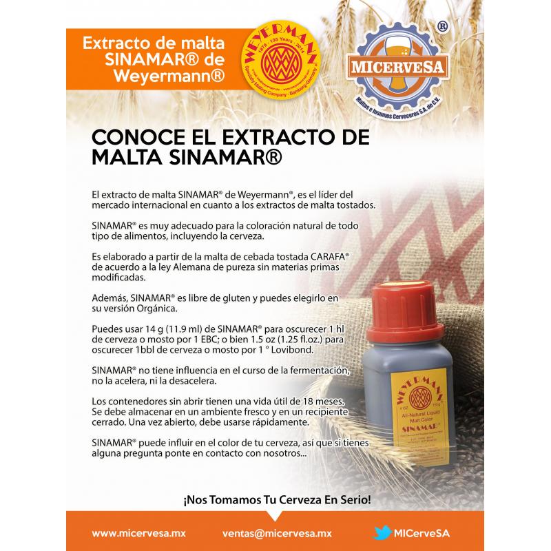 Colorante de Malta Sinamar® (5.9 Kg / 5 lts) - Weyermann®