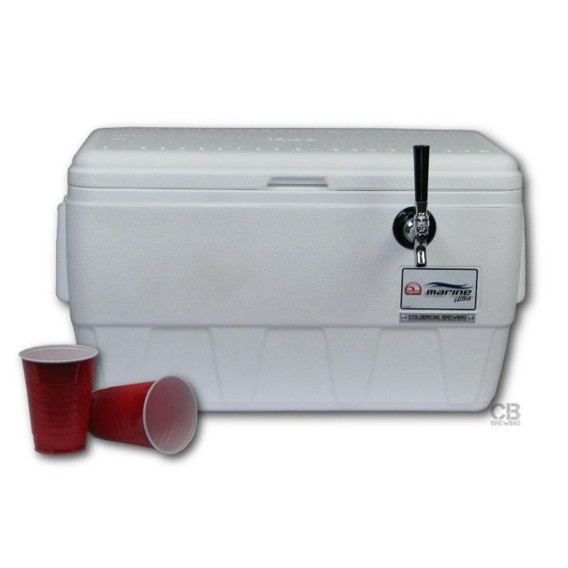 Coldbreak Jockey Box 1 tap marine pass through 48 quart cooler 50-foot coil