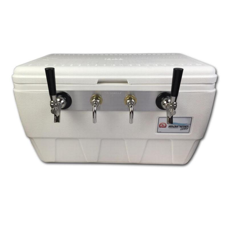 Coldbreak Jockey Box 2 tap marine Bartender Edition MBE 48 quart cooler 50-foot coils
