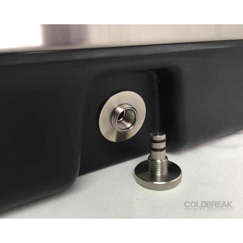 Coldbreak Jockey Box 2 tap stainless pass through 54 quart cooler 50-foot coils