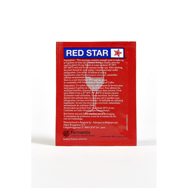 Levadura Premier Rouge (Pasteur Red) -Red Star