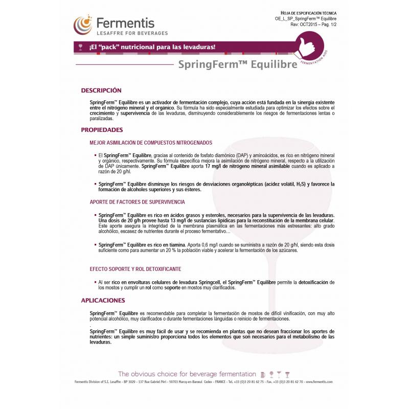 Fermentis - SpringFerm Equilibre SP (500 grs)