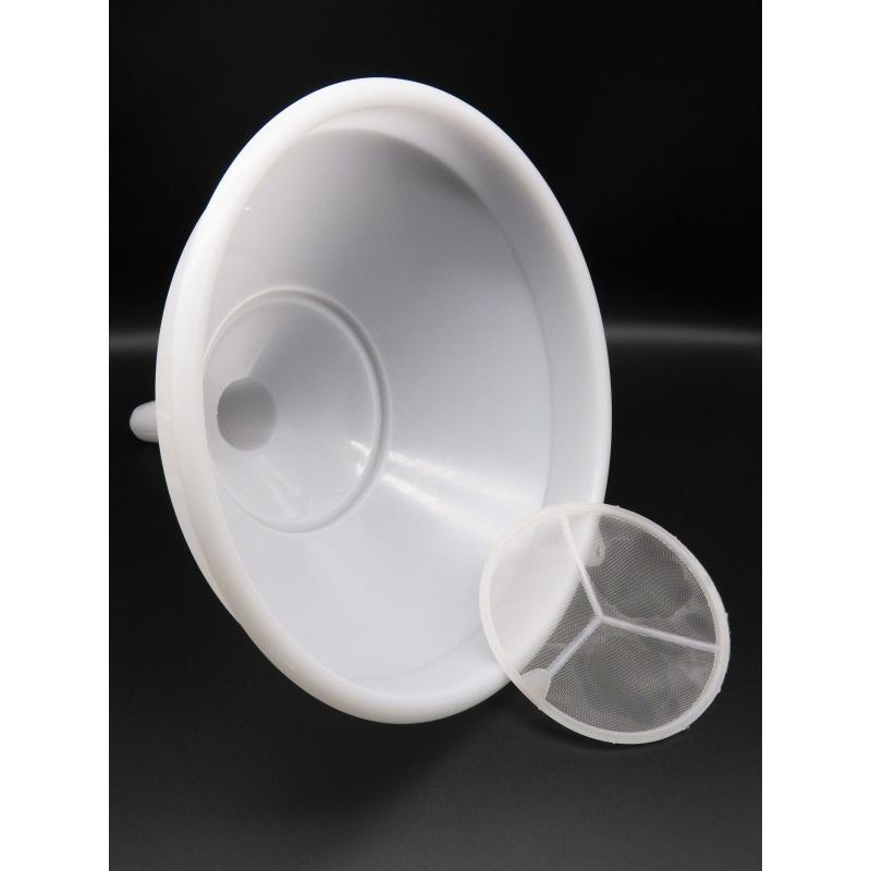 Embudo de Plastico con filtro - 30 cm